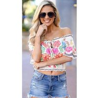 Top Floral White L