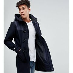Jack & Jones Originals Wool Duffle Coat With Shoulder and Hood Detail - Navy