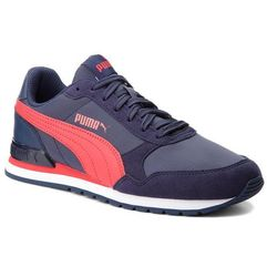 Półbuty PUMA - St Runner V2 Nl Jr 365293 05 Peacoat/Ribbon Red, kolor niebieski