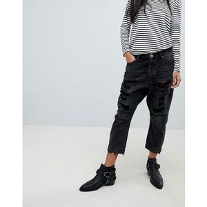 kingpins drop crotch boyfriend jean - black marki One teaspoon