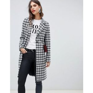 tailored coat in check - multi, River island