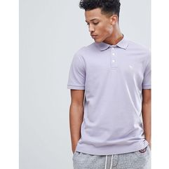Abercrombie & fitch stretch core moose icon logo slim fit polo in lavender - purple
