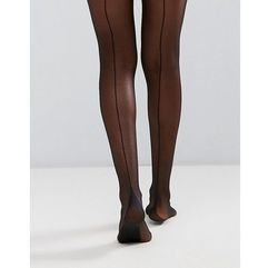 french back seam tights - black, Gipsy