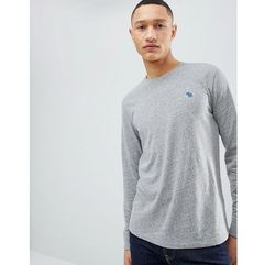 long sleeve t-shirt with moose logo in grey marl - grey, Abercrombie & fitch, XS-XL