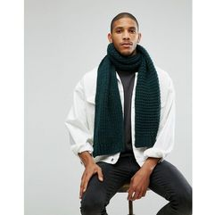 ASOS Knitted Scarf In Bottle Green - Green