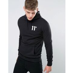 hoodie with logo - black, 11 degrees, XS-M