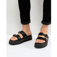 Dr Martens Myles Slide Sandals In Black - Black