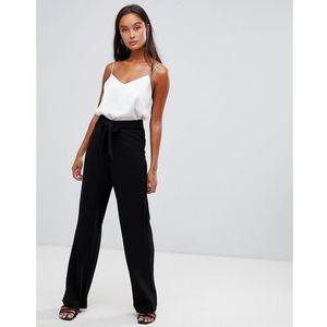 wilma kick flare tailored trousers - black marki Brave soul