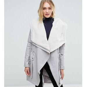 waterfall parka with borg lining - grey marki Asos tall