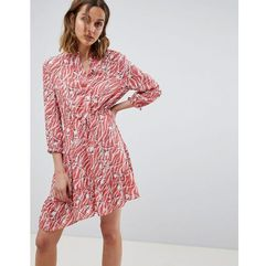 AllSaints printed shirt dress - Red, kolor czerwony