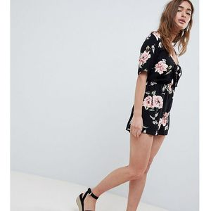 tie front playsuit - multi marki New look petite