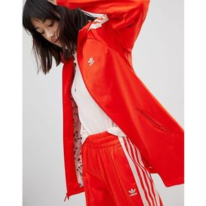 Adidas Originals Track Jacket In Red And Pink - Red