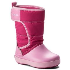 Śniegowce CROCS - Lodgepoint Snow Boot K 204660 Candy Pink/Patry Pink