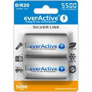 "Everactive 2x r20/d ni-mh 5500 mah ready to use ""silver line"" (5902020523734)"