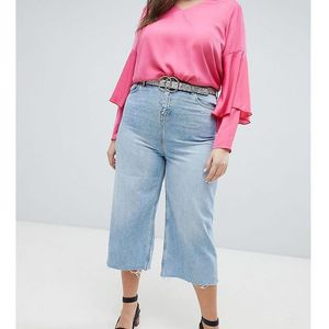 New Look Curve Wide Leg Cropped Jeans - Blue, jeans