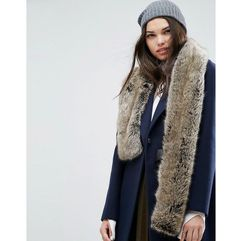 Asos faux fur natural long scarf - beige