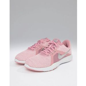 flex trainers in pink - pink marki Nike training