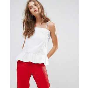 peplum cami top - white marki Minimum