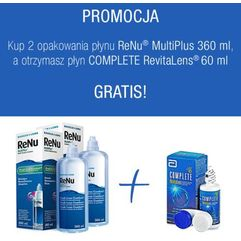 2x ReNu MultiPlus 360 ml +  Complete RevitaLens 60 ml
