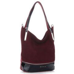d3505359480b8 Ekskluzywna włoska torebka damska firmy zamsz naturalny skóra eko lakier  czerwona (kolory) marki. Torebki w promocji