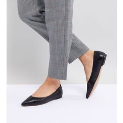 design ladybird leather ballet flats - black, Asos