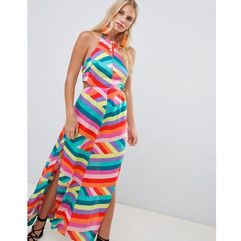 Accessorize hot house stripe maxi beach dress multi - multi