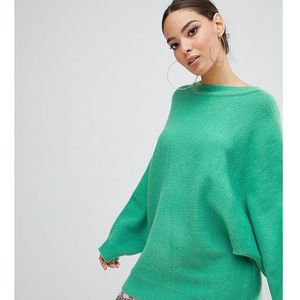 exclusive oversized batwing jumper in green - green, Prettylittlething, 36-40