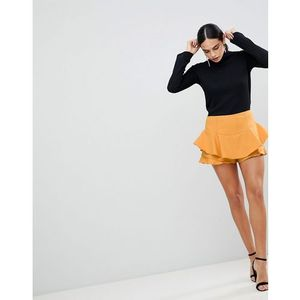 AX Paris Ruffle Mini Skirt - Yellow