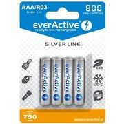 "4x r03/aaa ni-mh 800 mah ready to use ""silver line"" marki Everactive"