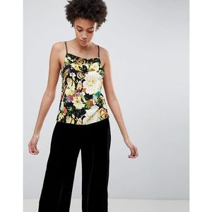 Minimum Floral Cami Top - Black