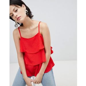 tiered cami top - red, River island