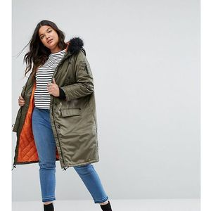 full moon maxi parka coat - green, Brave soul plus