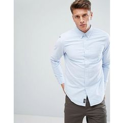Abercrombie & fitch oxford shirt core slim fit in blue - blue