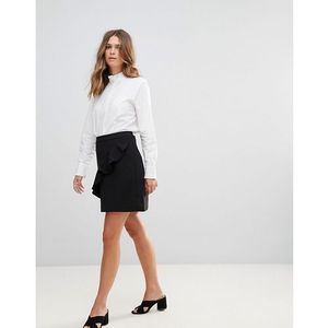 b.Young Ruffle Panel Mini Skirt - Black, kolor czarny