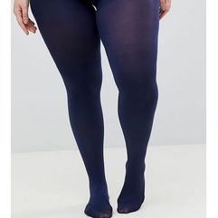 ASOS DESIGN Curve Super Stretch 90 Denier Tights In Navy - Navy, kolor szary