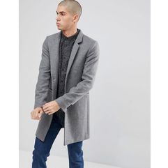 Only & sons overcoat with stand up collar - grey