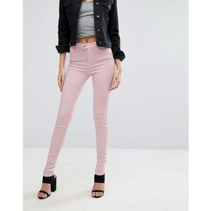 touch super high rise skinny jeans - pink marki Replay