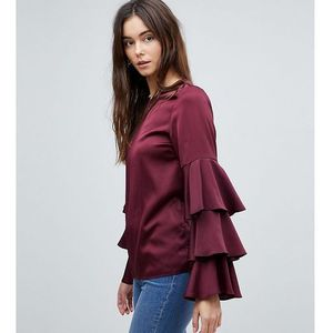triple tiered sleeve top - purple marki New look tall