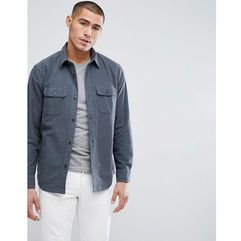 Abercrombie & Fitch Chamois Heavy Cotton Shirt Regular Fit in Grey - Grey