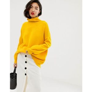 slouchy funnel neck jumper - yellow marki Whistles