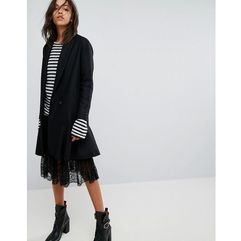 grace coat with asymmetric skirt - black marki Allsaints