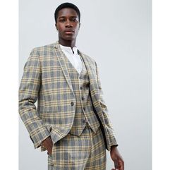 ASOS DESIGN Skinny Suit Jacket In Yellow Tartan Check - Yellow, kolor żółty