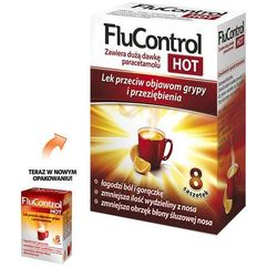 Proszek Flucontrol Hot prosz.do sp.rozt.doust. 1g+0,01g+4mg 8 sasz.a 5,5g