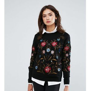Y.a.s tall embroidered jumper - black