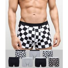trunks with check print 7 pack - multi marki Asos design