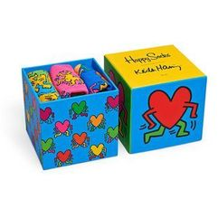 Happy socks - skarpetki keith haring sock box set (3-pak)