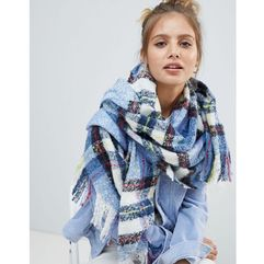 Monki check scarf - multi