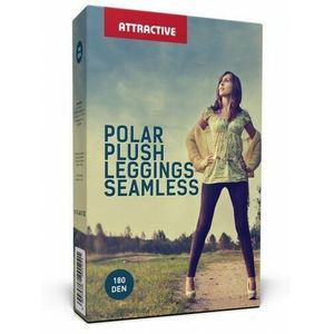 LEGGINSY BEZSZWOWE POLAROWE POLAR PLUSH 180 DEN SEAMLESS ATTRACTIVE