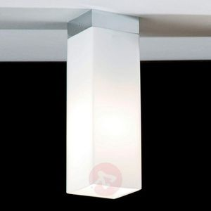Lampa sufitowa quadro box ze szkła, nikiel mat marki Top light