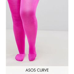 90 denier high shine tights in pink - pink marki Asos curve